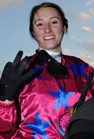 They come in threes: Katelyn Mallyon rode three winners at Caulfield on Saturday.