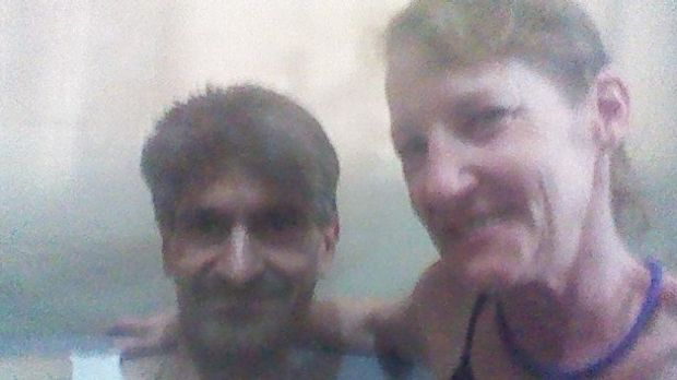 Steven Samaras (left) is in custody being questioned over the death of his partner Tamara Turner (right).