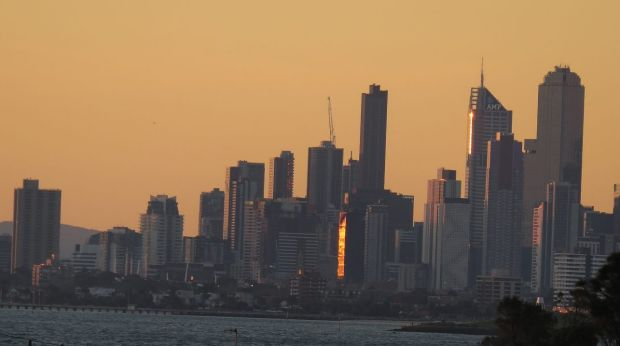High-rise apartment blocks have transformed Melbourne's skyline.