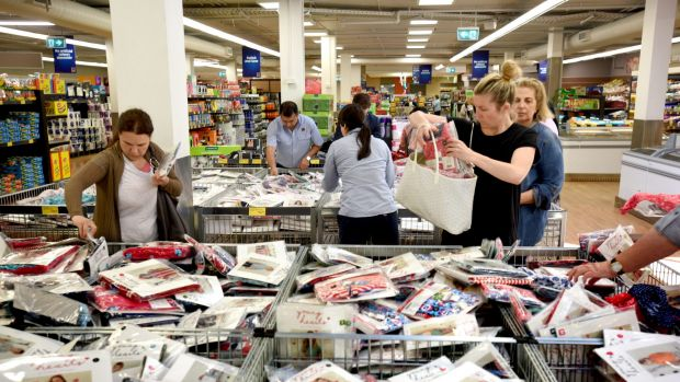 More than 90 per cent of of Aldi product lines are the discounter's exclusive private label brands.