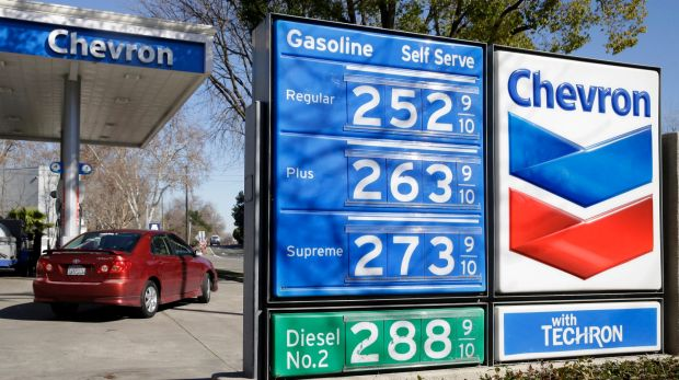 A Chevron gas station in Sacramento, California. The court case examined the tax deductibility of a $2.5 billion ...