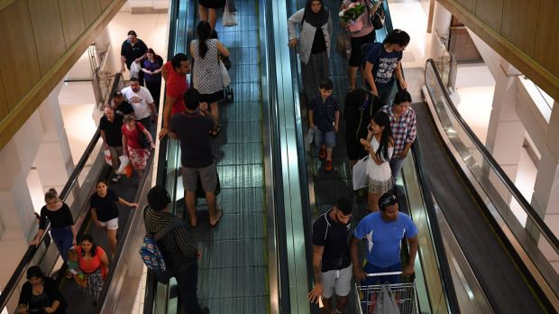 Christmas shopping crowds at Westfield Shopping Centre in Parramatta 21st December 2016 Photo by Louise Kennerley SMH ...