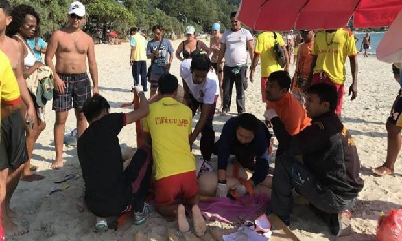 Lifesavers tried to save Victorian tourist Emily Jayne Collie on Phuket's Karen Beach.