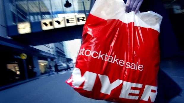 Myer has acquired popular fashion brands Marcs and David Lawrence, which collapsed in February.