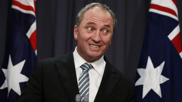 On message: Deputy Prime Minister Barnaby Joyce, has been is determined the APVMA will move to Armidale.