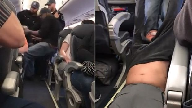 Dr David Dao was dragged down the aisle of the plane.