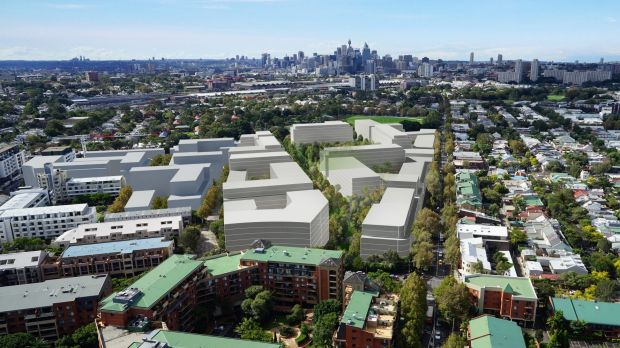 Impression of the project concept plan of the 6.9ha industrial precinct, Park Sydney.