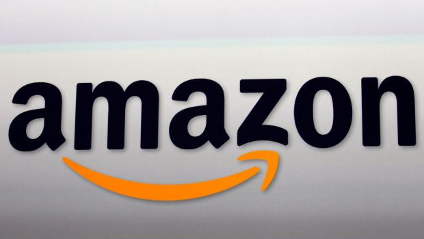 FILE - This Sept. 6, 2012, file photo shows the Amazon logo in Santa Monica, Calif. Amazon.com Inc. reports financial ...