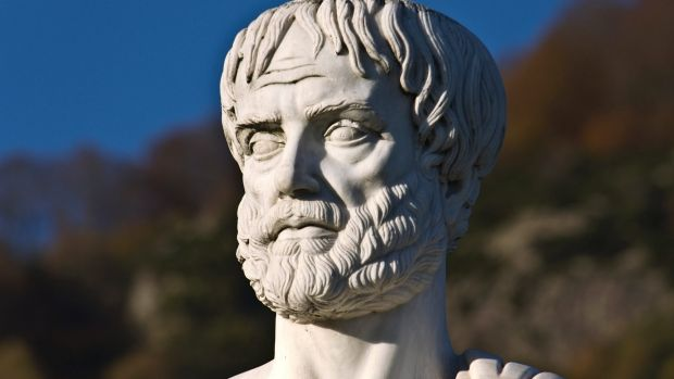Aristotle, seen here weeping at the state of political rhetoric in Australia.