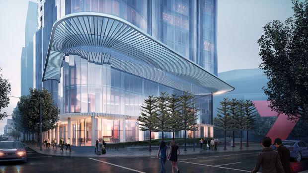 Salta Properties' proposed 26-storey apartment tower with an Indigo Hotel in Melbourne's Docklands.