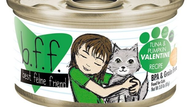 an example of a BFF brand cat food tin