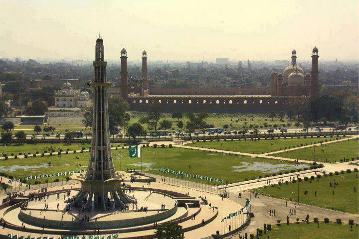 Minar i Pakistan and Badshahi Masjid