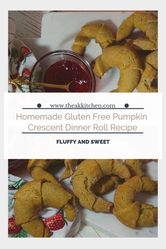 Homemade Gluten Free Pumplin Crescent Dinner Roll Recipe