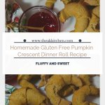 Homemade Gluten Free Pumpkin Crescent Dinner Roll Recipe