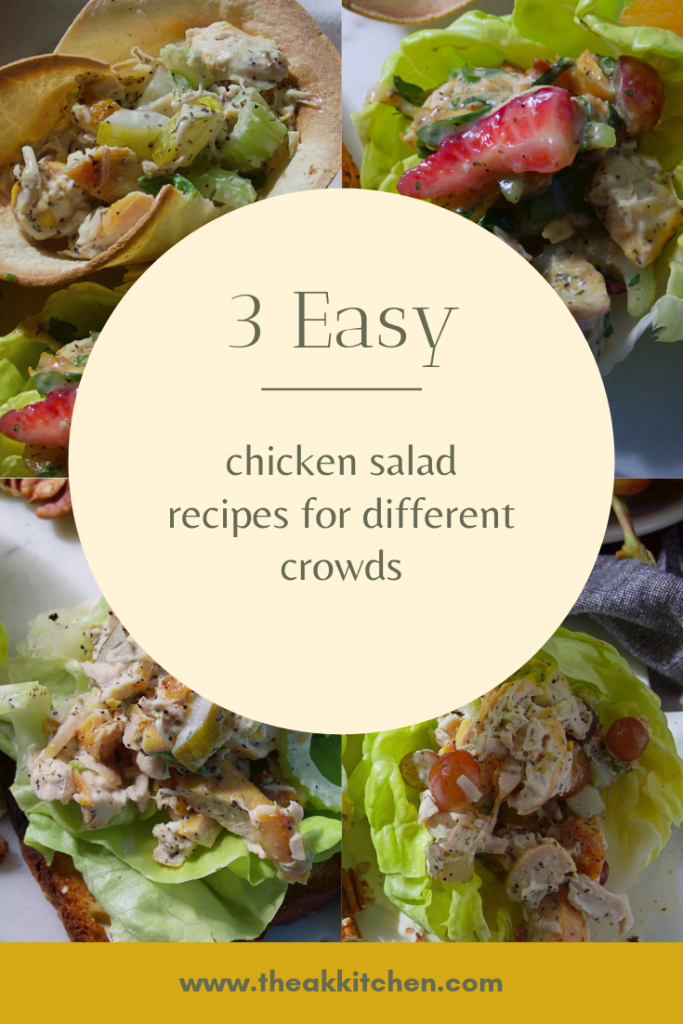 3 easy chicken salad recipes for different crowds