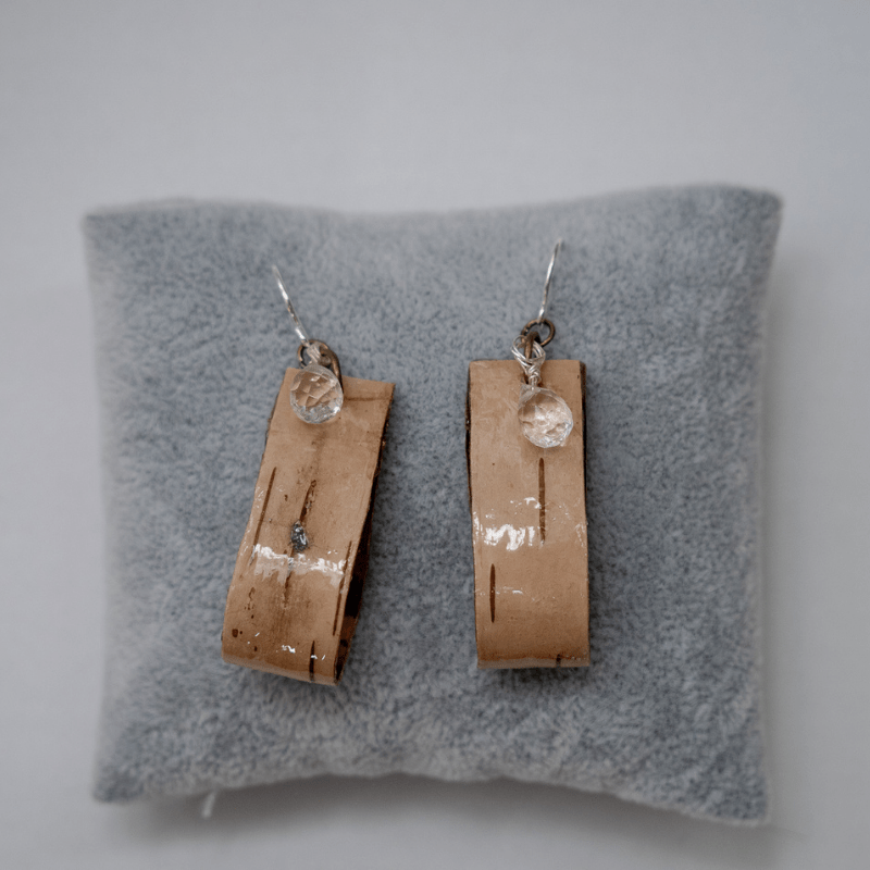 Birch Loop Quartz Earrings