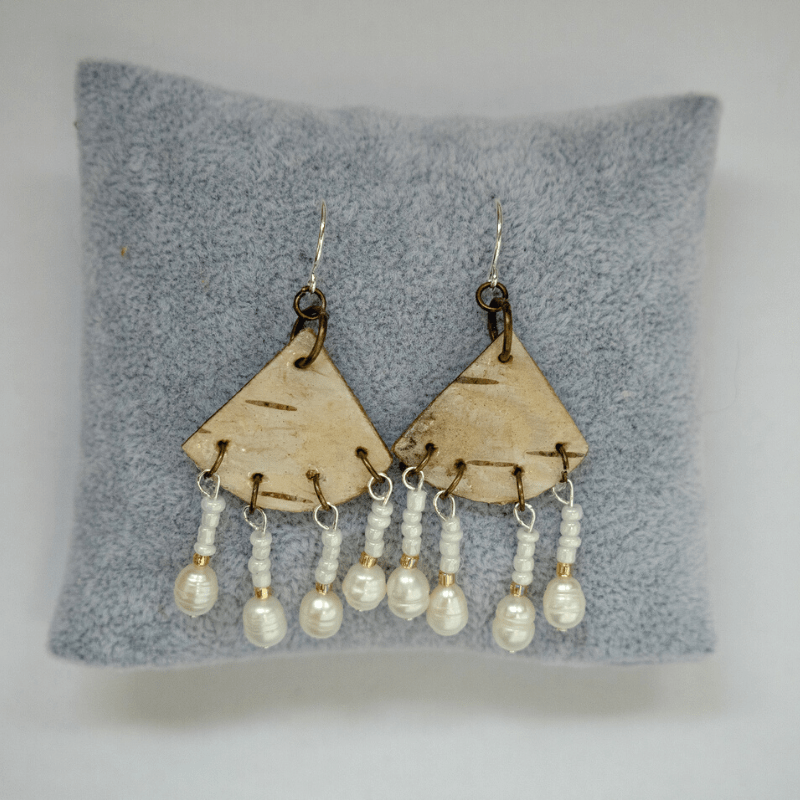 Birch & Pearl Quad Earrings