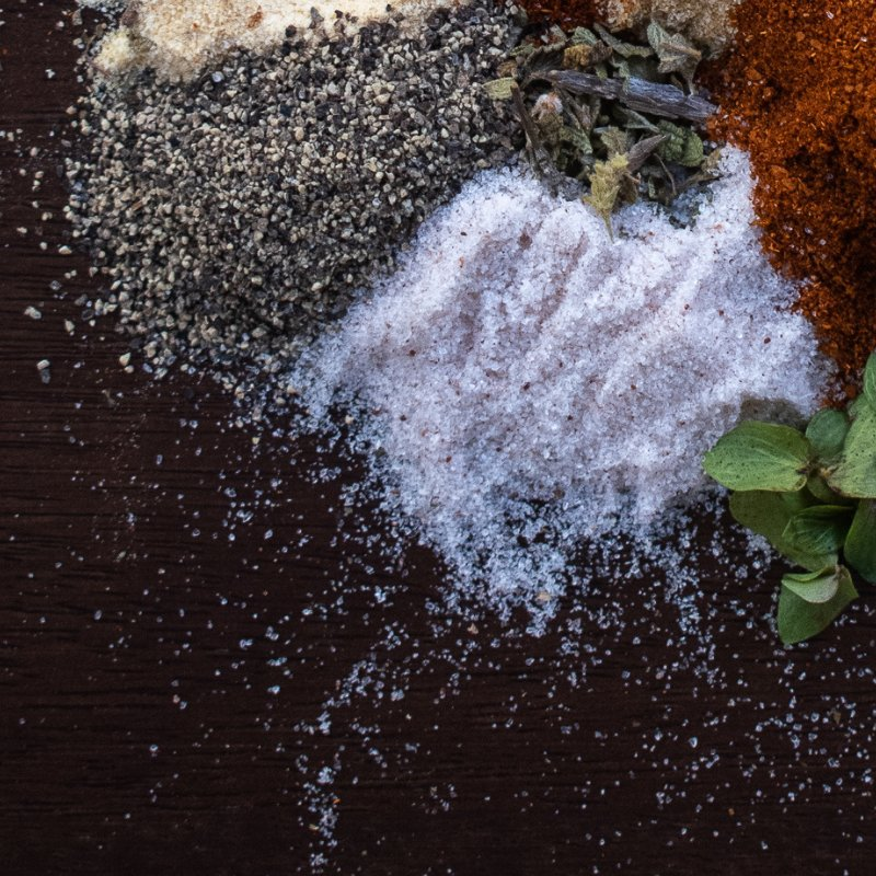salt to intensify spices