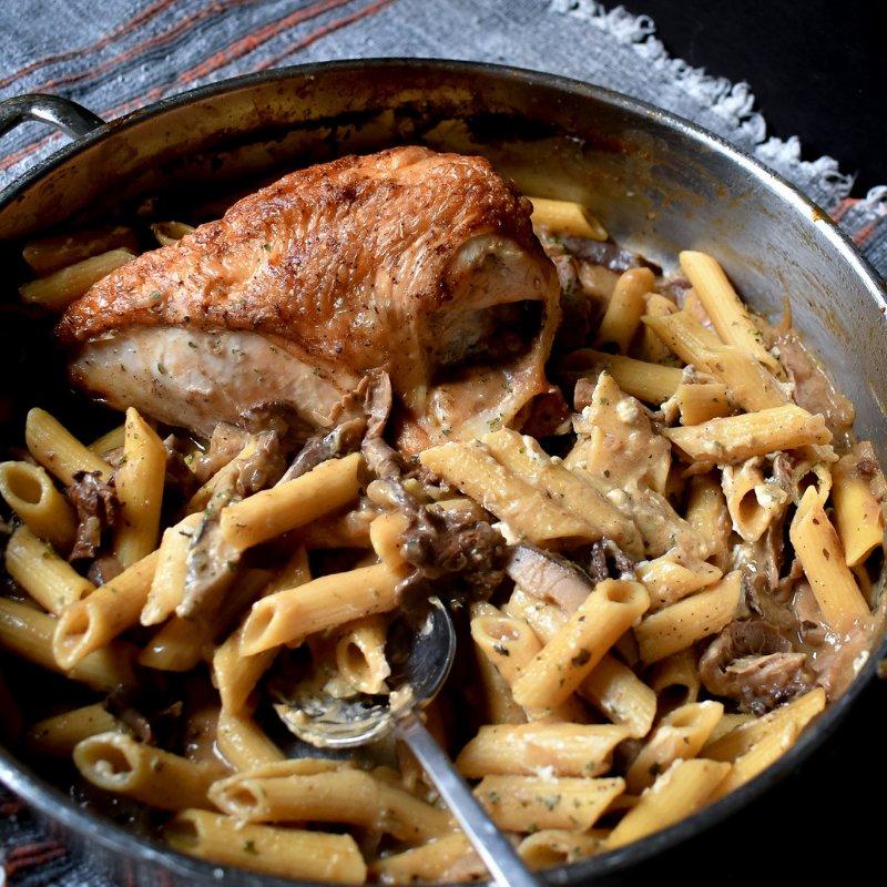 Split Chicken Breast with Pasta