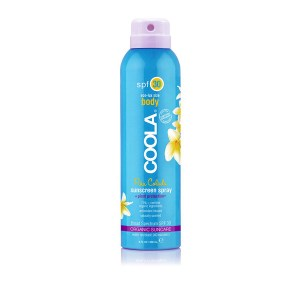 70%+ certified organic ingredients Broad spectrum SPF 30 protection Water resistant 80 minutes Continuous spray-on application Ultra-sheer Rich in antioxidants Hypoallergenic Naturally scented and unscented options Vegan Reef Safe/Reef Friendly