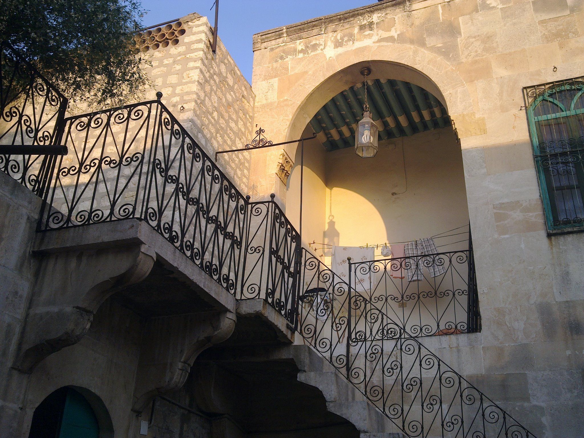 Liwan upstairs at sunset - AlHakam Shaar 2010
