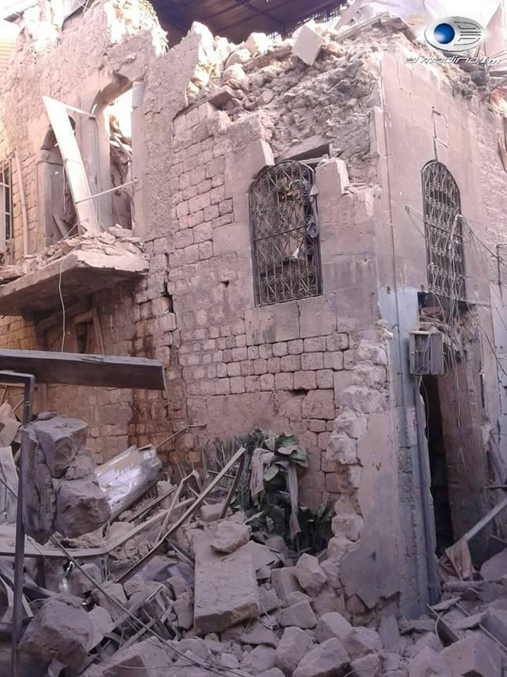 Damage at Mulla Khaneh Mosque in Western Aleppo