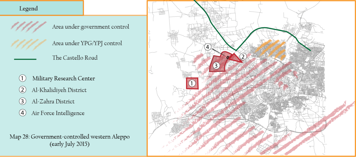 MAP 28 West Aleppo aftr Rebel attack early July 2015