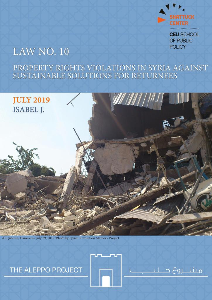 Law No. 10: Property Rights Violations in Syria Against Sustainable Solutions for Returnees