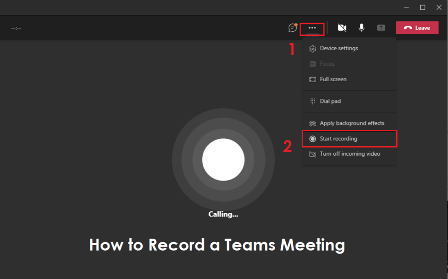how to record a teams meeting