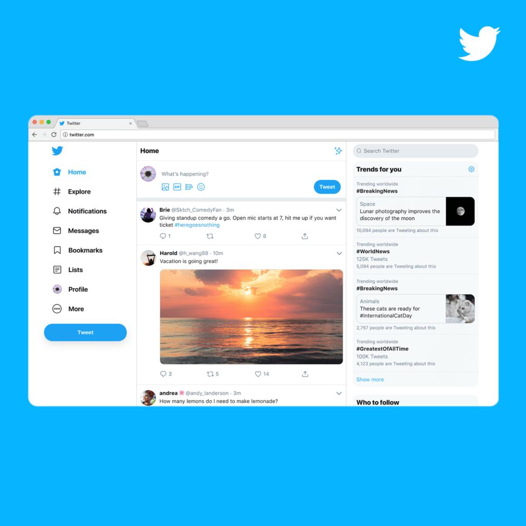 Twitter.com หน้าตาแบบใหม่