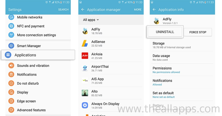 uninstall-application-android