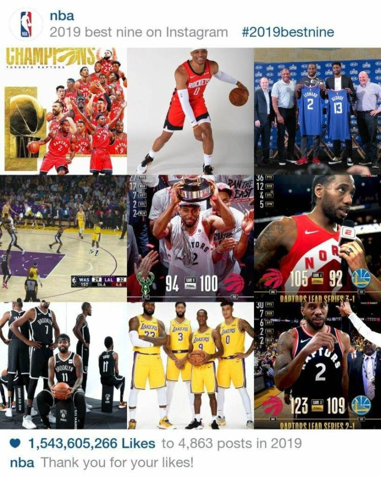 2019 best nine instagram nba