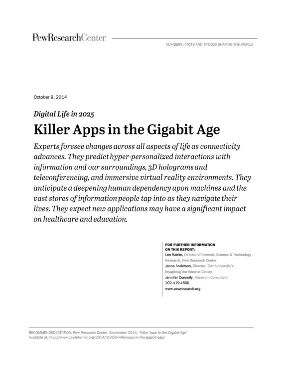 Killer Apps in the Gigabit Age