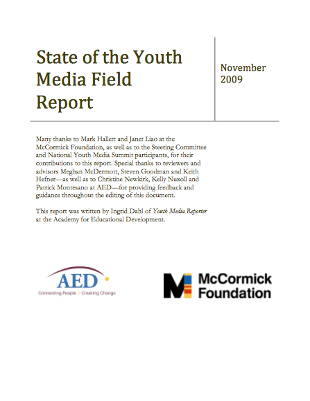 State of the Youth Media Field Report
