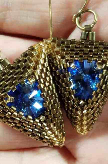 Triangular Treasure Earrings Tutorial Part 1