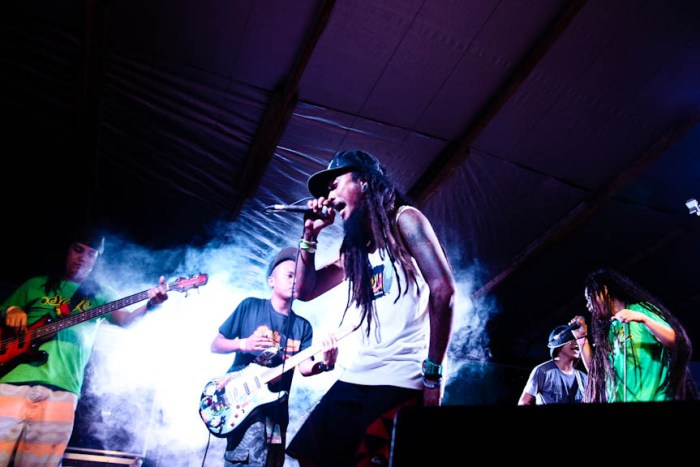 Kokoi Baldo performs with DreadKnot Used during the Nalu Music Fest in Baler, Aurora. Photo by: Kimmy Baraoidan