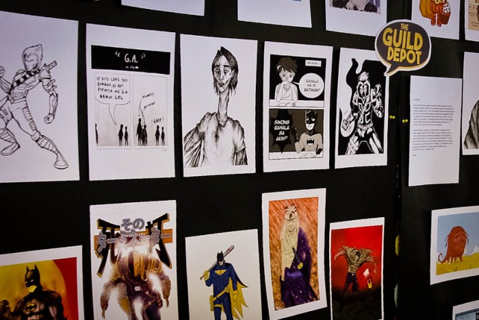 Art works by members of the Graphic Literature Guild are laid out on a panel during Elbikon 2016 at the University of the Philippines Los Baños. (Photo by: Kimmy Baraoidan)
