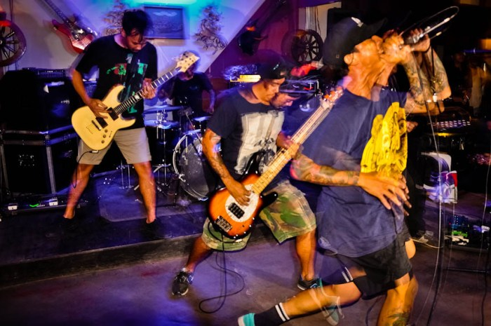 Embercore performing during Pound4Pound XXI: Legalized at Nesting Ground Garden Café in Los Baños, Laguna. (Photo by: Bong Ranes)