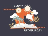 nautical themed fathers day card to print
