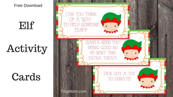 Free Kids Elf Activity Cards for Blissful Holiday Memories