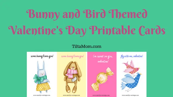 Bunny and Bird Valentine's Day Cards