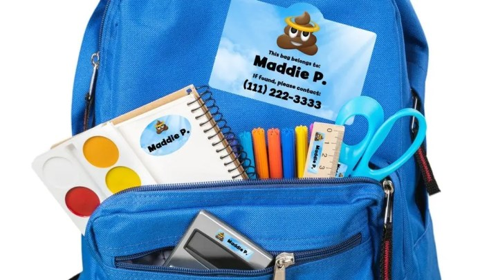 Organizing Kids With Personalized Labels