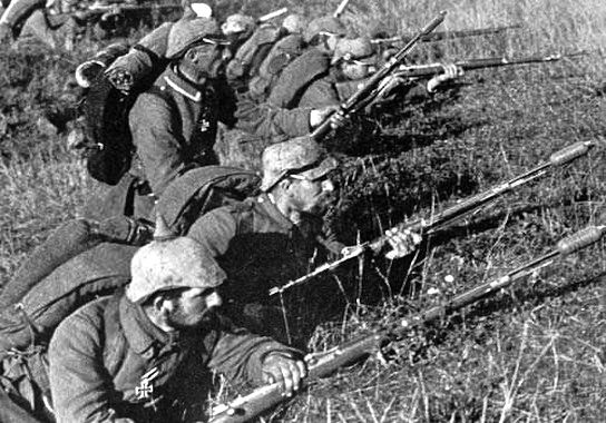 German soldiers at the First Battle of the Marne during World War I / Wikimedia Commons