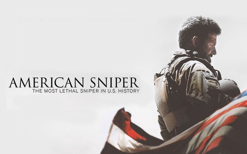 """Promotional poster for """"American Sniper""""."""