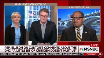 MSNBC host laughs at DNC vice chair after Ellison calls female panelist 'man' - The American Mirror