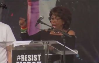 Mad Maxine Waters leads 'Impeach 45' chant as Nancy Pelosi looks on - The American Mirror