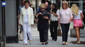 VIDEO: Hillary strolls through New York City - and no one seems to notice - The American Mirror