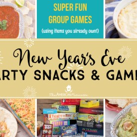 New Year's Eve Party Snacks and Games