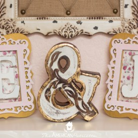 DIY Framed Monogram Sign