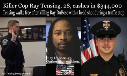 Killer Cop Officer Ray Tensing cashes in $344,000